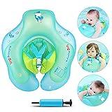 Infreecs Anello di Nuoto per Bambini , salvagente Neonato gonfiabili per Piscina Regolabile Doppio Airbag Salvagente per 3-12 Mesi Bambini (S)