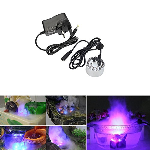 ycnk-12-led-ultrasonic-fountain-mist-maker-fogger-humidifier-with-ac-power-adapter-waterproof-submer