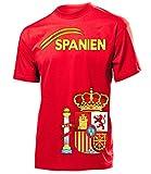 Spanien Fanshirt Fan Shirt tshirt Fanartikel Artikel 3207 Fussball Männer Herren T-Shirts Rot XXL