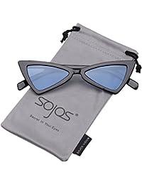 SOJOS Gafas De Sol Mujer Moda Triángulo Ojo De Gato SJ2051 7594c47e7df