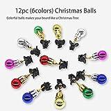 Bart-Ornamente für Weihnachten, Bartglocken, Weihnachtsmann, Bart-Clip, 12 Farben und 4 vibrierende Ringschellen