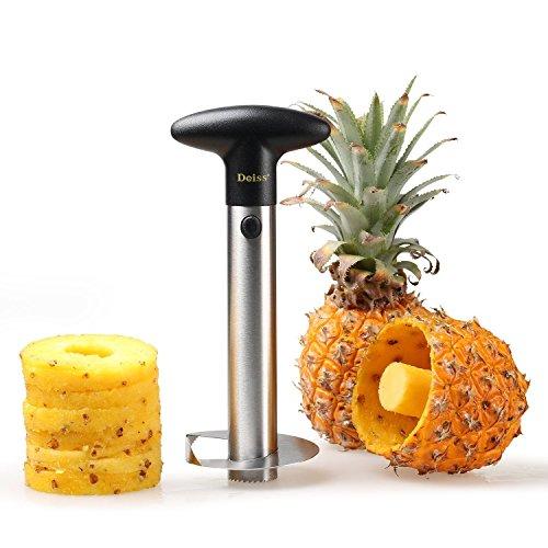 Deiss PRO Ananasschneider - 2 in 1 Edelstahl Ananasschneider & Schäler - Macht die perfekten Ananas...