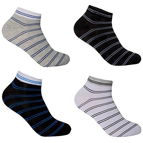12 Paar L&K Herren Sneaker-Socken mehrfarbig schwarz und weiß zur Auswahl