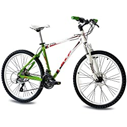 "26"" KCP MOUNTAIN BIKE PULSE ALLOY 24 speed SHIMANO UNISEX white green - (26 inch)"