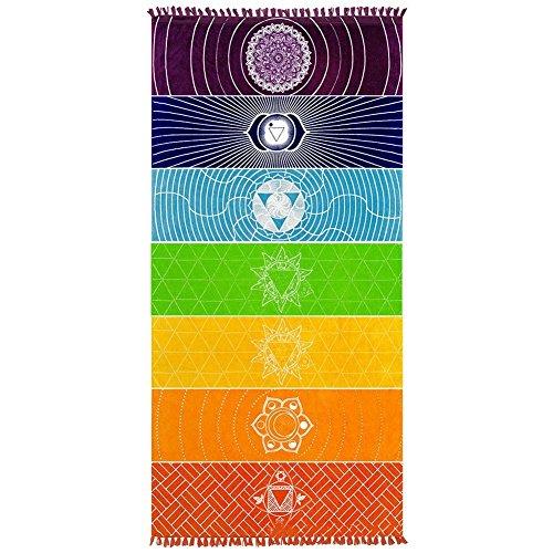 Sunwords, Wandtuch / Strandtuch / Yoga-Decke / Picknickdecke (Regenbogen-farbigen Tischdecken)