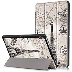 Xuanbeier Huawei MediaPad T3 10 (9,6 Pouces) Étui Housse Étui à Rabat avec Support Ultra-Mince et Léger pour Tablette Tactile Huawei MediaPad T3 10 (9,6 Pouces)-Tour en Ligne