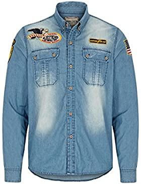 GOODYEAR Fashion Melvin Camicia da uomo, Uomo, MELVIN, Blue Denim used, XXL