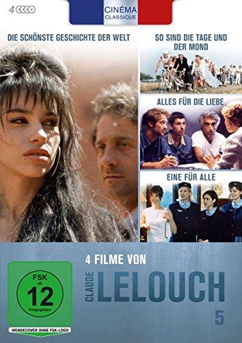 Bild von Cinéma Classique: Claude Lelouch - Box 5: So sind die Tage und der Mond / Die schönste Geschichte der Welt / Alles für die Liebe / Eine für alle [4 DVDs]