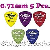 Alice 0.71mm Guitar Pick, Set of 5