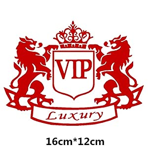 HANO CarVIP Crown kreative Abziehbilder ForAuto Tuning Styling wasserdicht 16cm * 12cm & amp; 20cm * 15cm D11: 16x12 Red