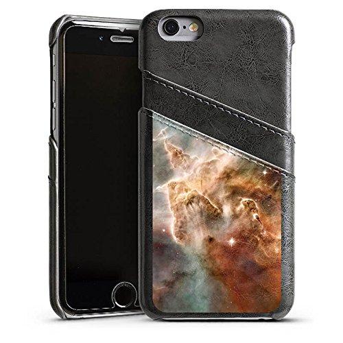 Apple iPhone 6 Housse Étui Silicone Coque Protection Étoiles Espace Motif Étui en cuir gris
