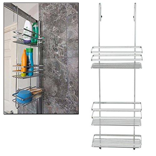 Parte superior Home Solutions cromado más grande de 3 niveles para colgar  de la puerta baño 2033036df74f