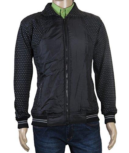 Modo Vivendi | Western Style Warm Winter Jackets For Men | Stylish Winter Coat Sweatshirt For Men (Black