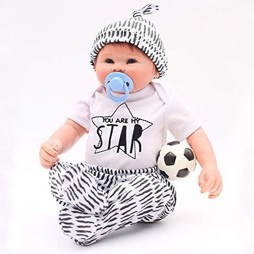(OTARDDOLL 20'' Reborn Baby Puppe Fußball Junge Lebensecht Simulation Spielzeug Geschenk Sammeln,Ganzkörper Silikon,Kann Duschen 50cm)