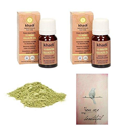 set-anticellulite-2-olii-khadi-10-erbe-10-ml-500-gr-argilla-verde-fango-drenante-dimagrante-pelle-to