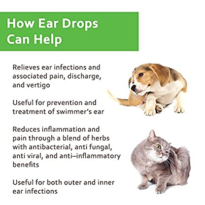 NaturPet Ear Drops | Natural Ear Infection Medicine For Dogs | Dog Ear Cleaner | Cat Ear Cleaner | Helps with Wax, Yeast, Itching & Unpleasant Odors 4