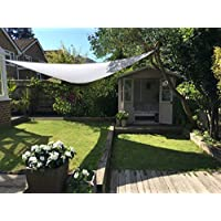 Clara Shade Sail Toldo Vela blanco impermeable sol vela de sombra para jardin impermeable UV Canopy (Triangle 5m)