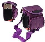 Navitech violet Digital Kamera Tasche Abdeckung für denCanon PowerShot G7 X Mark II Digitalkamera mit klappbarem Display