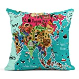 SKDJFBUD Emvency Decor Flax Throw Pillow Covers Case Shape Howdy State of Texas Map...
