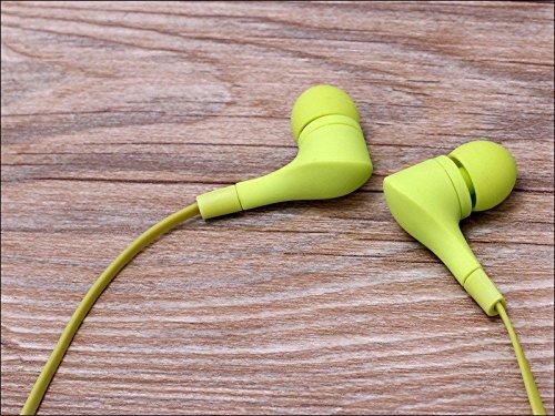 Écouteurs intra-auriculaires de Sport Vert suppression du bruit casque écouteurs Mains libres écouteurs intra-auriculaires 3,5mm W/appel mains libres Mic. Compatible avec