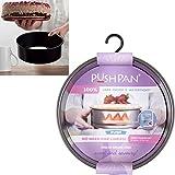 Backform Push Pan mit Silikondichtung, wasserdicht, 8,5 cm hoch, 23 cm ø: Silikon-Stahl Back Springform Kuchen Ring Tortenring