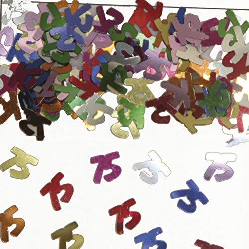 Folat 05320 - Tischkonfetti Zahl 75 - bunt - 1 x 14 gr. (Halloween Preiswerte Tischdekoration)