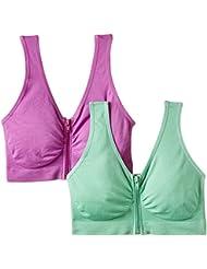 Figur Body Figur Body Traum-BH mit Reißverschluss, 2er-Set -Hellgrün/Flieder - Soutien-gorge de sport - Femme