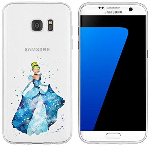 Schuh Cinderella Disney (Samsung Galaxy S7 Edge Hülle von licaso® für das Galaxy S7 Edge aus TPU Silikon Prinzessin Aquarell Krone Prinz Comic ultra-dünn schützt Dein Samsung Galaxy S7 Edge & ist stylisch)