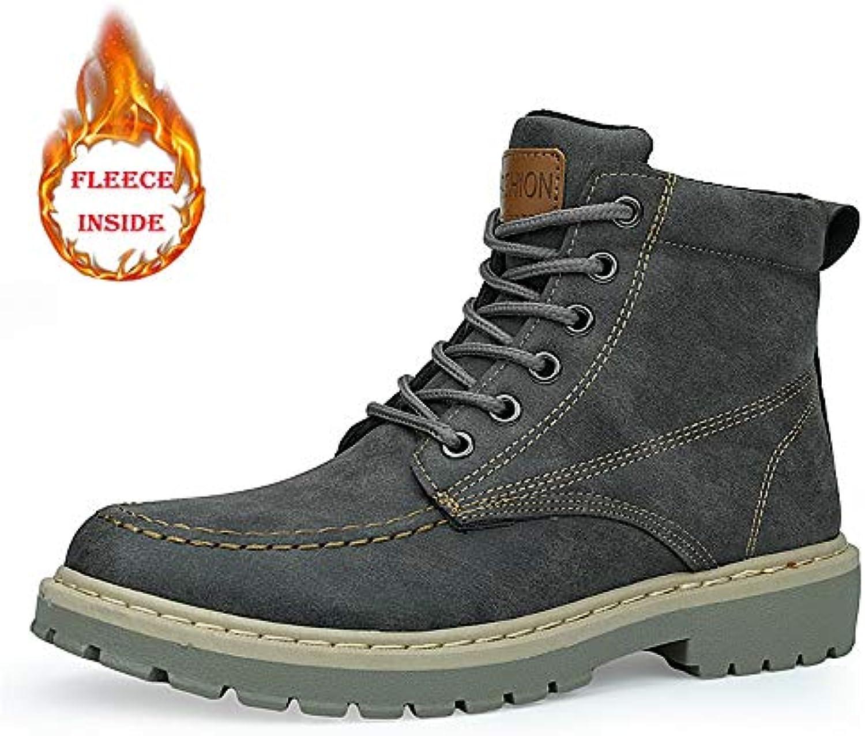 Stivale da Lavoro alla Caviglia da Uomo Fashion Comfort Classic Winter Faux Fleece Inside Warm High Top avvio (... | Ultima Tecnologia  | Gentiluomo/Signora Scarpa