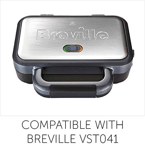 Breville Waffle Maker Plates for Breville Deep Fill (VST041) & High Gloss Deep Fill (VST074) Sandwich Toasters
