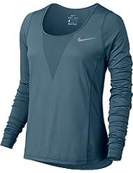 Nike W Nk Znl Cl Relay Ls Camiseta, Mujer, Morado (True Berry), M