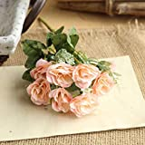 Wildrose, Frashing Unechte Blumen Blumenrebe Künstliche Deko Blumen Gefälschte Blumen Seidenrosen Plastik Braut Trockenblumen für Haus Garten Party Simulation Blumen (Rosa)