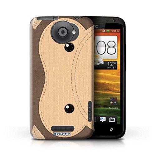 Kobalt® Imprimé Etui / Coque pour HTC One X / Tigre conception / Série Cousu des Animaux Effet Singe