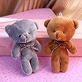 gfjfd Fliege Siam-Teddybär Autoschlüsselanhänger, Tasche, Kleiner Anhänger, Zubehör,...