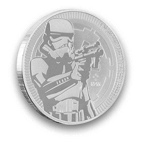 30ml oz Silver Niue 2018 Stormtrooper Star Wars New Zealand Silver Coin Coin