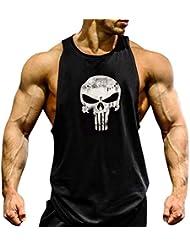 Gillbro para hombre del entrenamiento del músculo de la camiseta sin mangas de culturismo, A, L