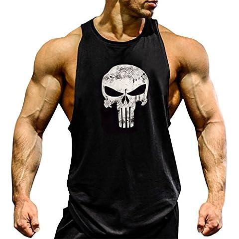 Gillbro Mens T-shirt Muscoli in allenamento bodybuilding