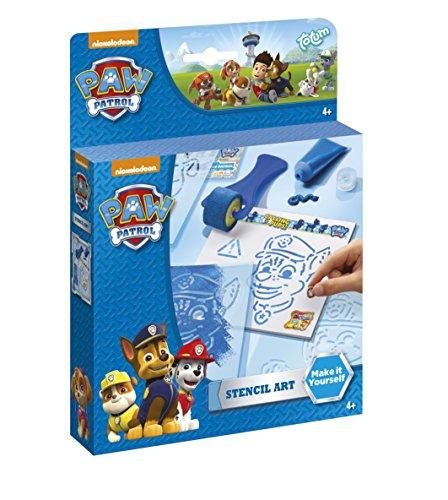 Nickelodeon Paw Patrol Marshall und Chase Mal-Set mit Malschablonen, Farbroller, Farbtube, Zeichenblock und bunten Stickern - TM Essentials 720053
