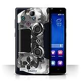 Stuff4 Hülle / Case für Huawei Honor 3C / Weiß Tarnung Muster / Playstation PS4 Kollektion