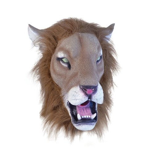 Bristol Novelty bm366Löwe Realistische Maske Plus Haar (eine Größe) (Lion King Kinder Kostüme)