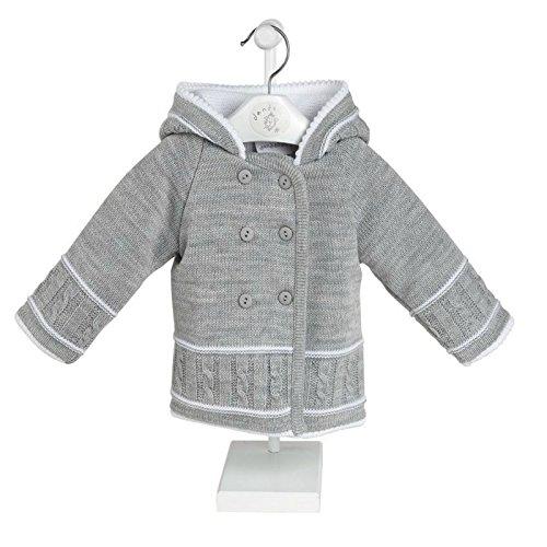 Dandelion Clothing Mädchen Baby - Mädchen Baby - Jungen Jungen Jacke Gr. 6-12 Monate, grau