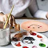 Palette Peinture (28Pcs) - Palette de Peinture en Plastique Diamètre 17cm, 10 Petites Alvéoles et 1 Grande Alvéole - Palette de Peintre pour les Loisirs Créatifs et Artistiques Enfants, Adultes