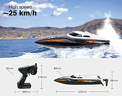 UDI001 RC Boot Rennboot Speedboot High Speed Remote Control 2,4 GHz High ferngesteuert racing Schiff Original UDI RTR