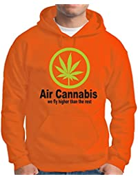 Touchlines Herren Kapuzenpullover Kapuzen Sweatshirt Air Cannabis-We Fly Higher Than the Rest