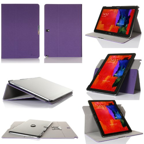GearIT Galaxy Tab Pro/Note Pro 12,2-360Gira con paisaje, retrato, función atril tipo libro para morado morado Galaxy Note Pro