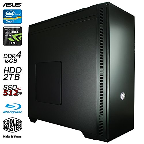 SNOGARD MediaLine Advanced Photo Studio PC   Intel Xeon E3-1230 V5 CPU   16GB DDR4   480GB SSD   8GB Nvidia GF GTX1070 • Professioneller Business Workstation & Multimedia Desktop Computer Workstation