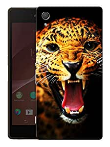 "Humor Gang Angry Leopard Face Printed Designer Mobile Back Cover For ""HTC DESIRE 828"" (3D, Matte Finish, Premium Quality, Protective Snap On Slim Hard Phone Case, Multi Color)"