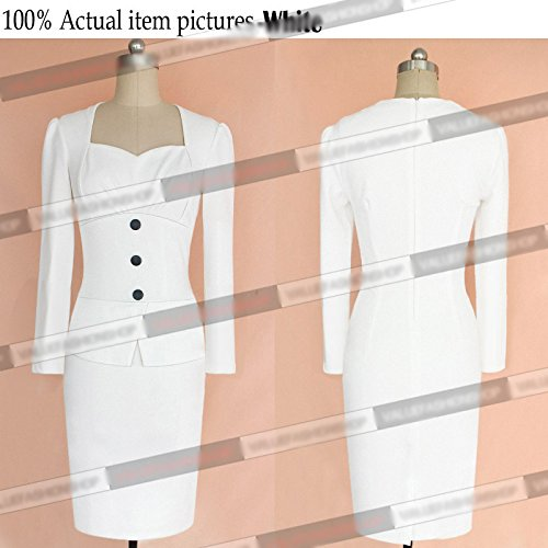 KingField - Robe - Crayon - Femme Medium Blanc - Blanc