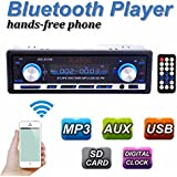 AUDEW Auto Radio Coche Bluetooth Estéreo In-Dash AUX USB SD Reproductor Audio MP3