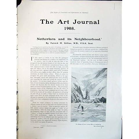 Impresión Antigua de la Escarpa Basáltica 1908 de Obispo Lorn Birds Rankin Toad del Diario del Arte